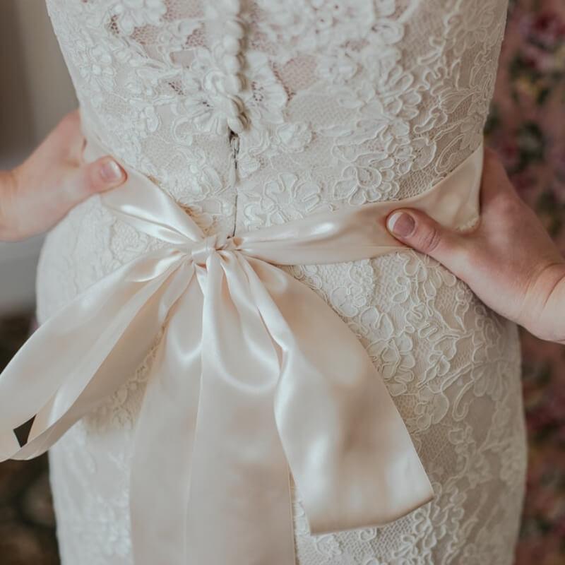 Bow on a dress